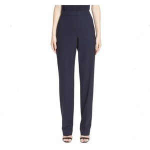 ST. JOHN Caviar Diana Pants 10 Navy Blue